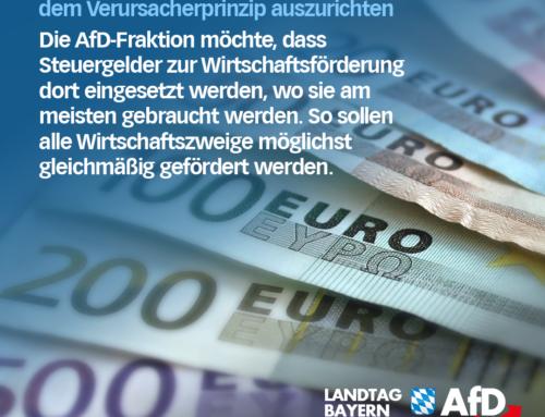 AfD fordert Konjunkturprogramm nach dem Verursacherprinzip auszurichten
